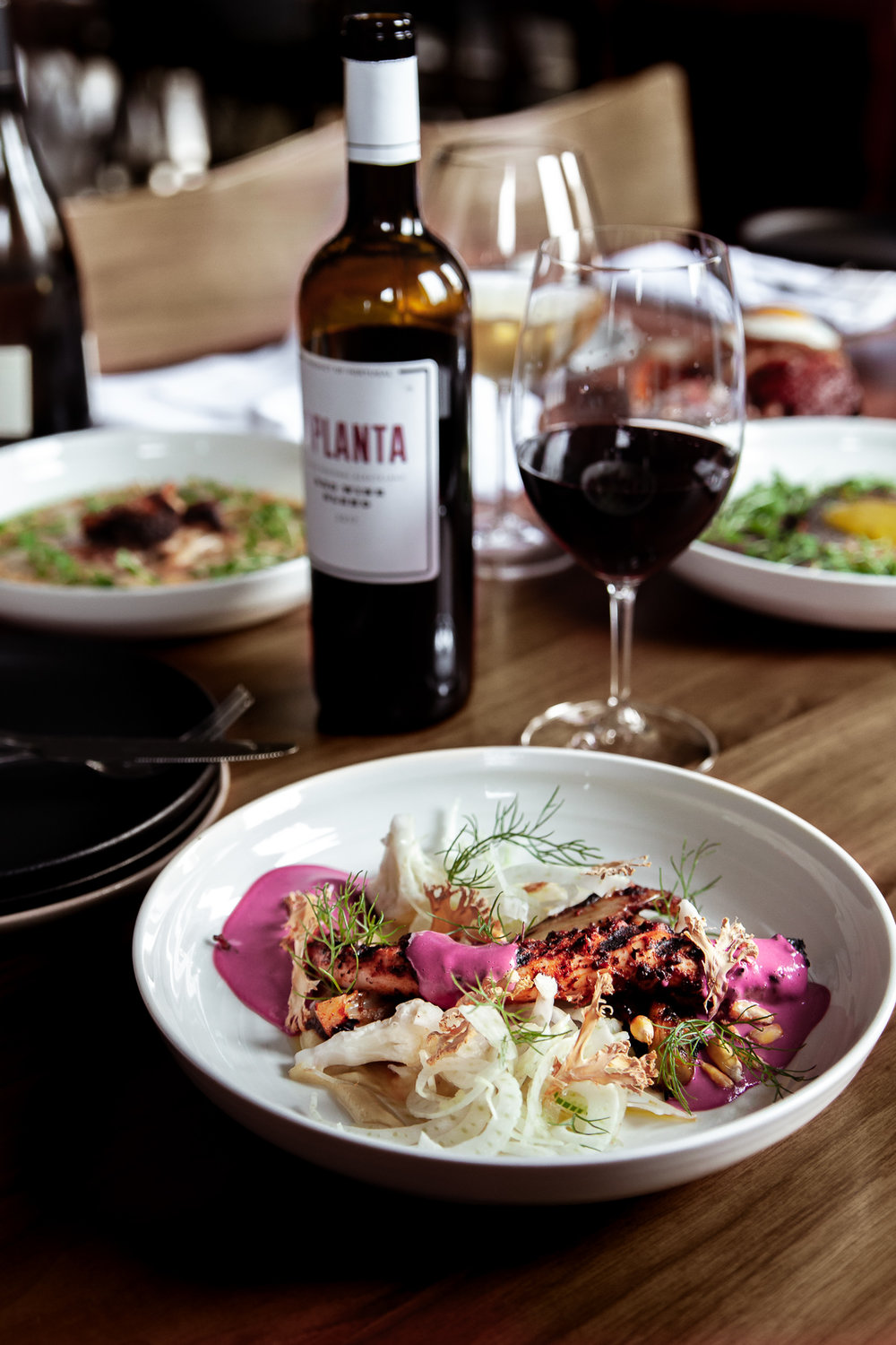 Table scape of Food and wine at Los Balcones, Studio city