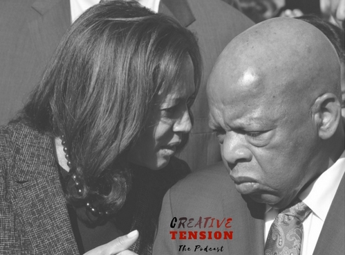 Senator Kamala Harris and Congressman John Lewis