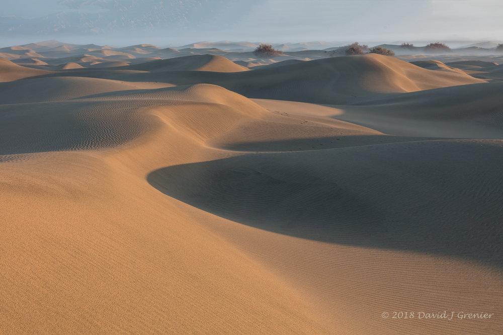 Fog, shadows and light on the dunes........