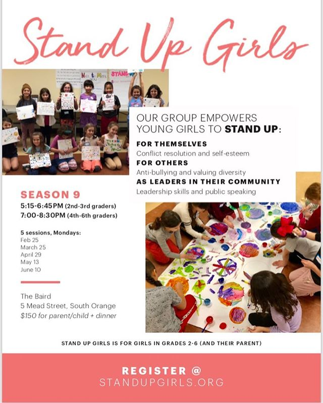 Registration for Stand Up Girls Season 9 is open. Join us for monthly sessions with your daughter that teach her to stand up for herself and for others and learn to be a leader. Have important conversations 🗣 and do some fun activities 🎨 (not to mention meet some other great parents 🙌🏻 in our community). Register now for Stand Up Girls! #standupgirls standupgirls.org
