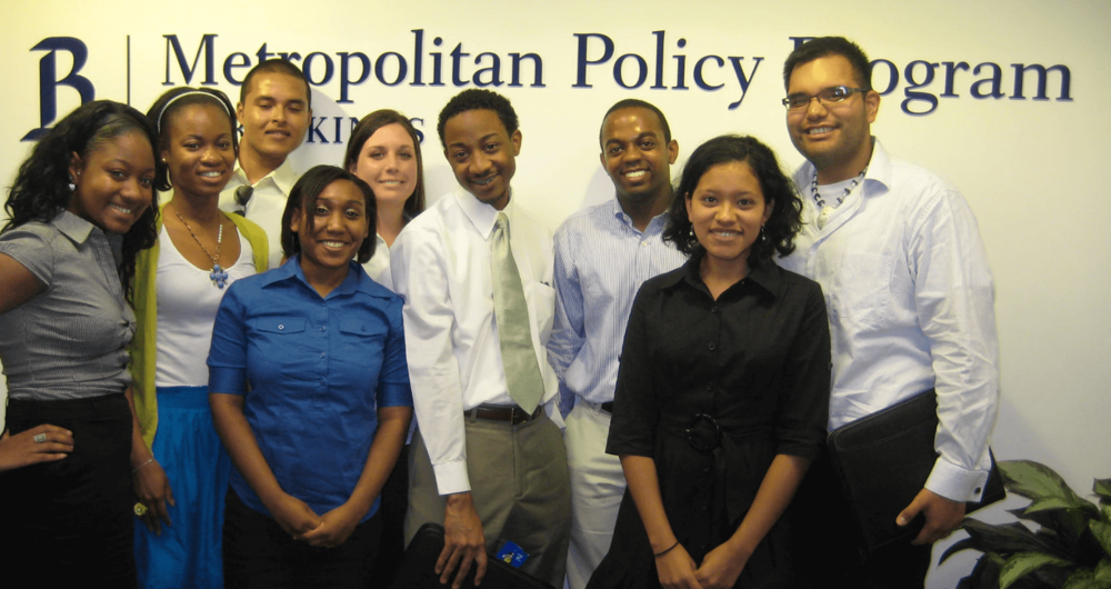 Class of 2009 after Brookings Metropolitan Policy Program visit