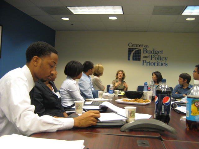 Class of 2009  at Center on Budget and Policy Priorities seminar led by Susan Steinmetz