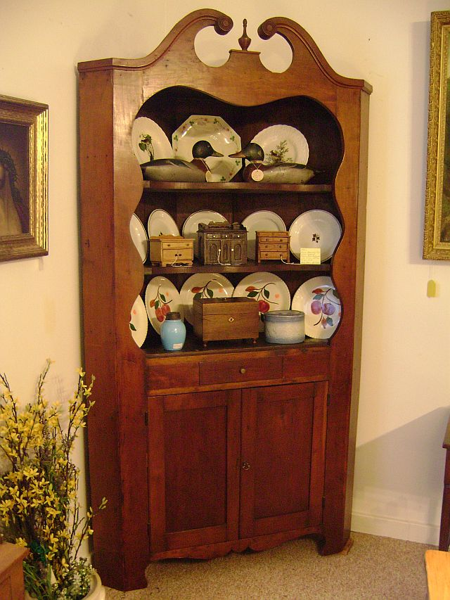 Early American, Cherry, Corner Cupboard $1875