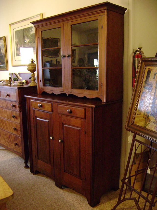 Walnut, 2-piece Step-back Cupboard $1585