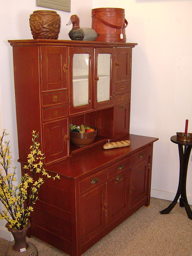 2-piece Kitchen Cupboard, Red, $875