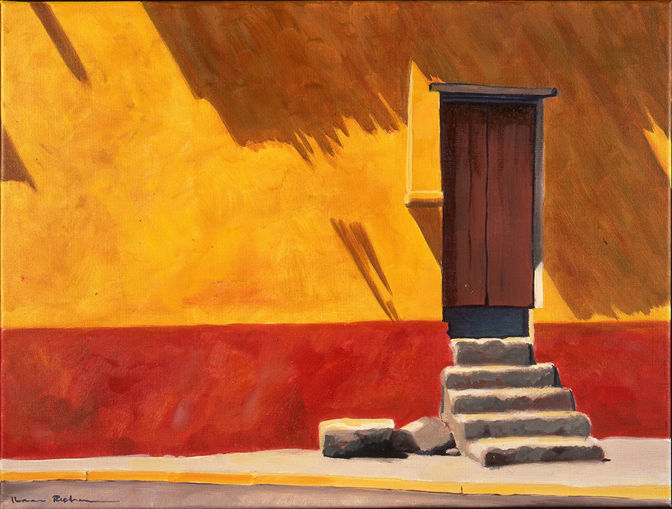 'Oaxaca Red and Yellow Wall' Mexico, Oil 45x61cm £975 .jpg