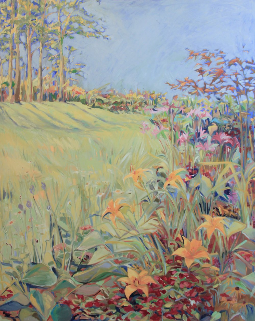 Meadow Garden, Oil on Canvas, 60 x 48