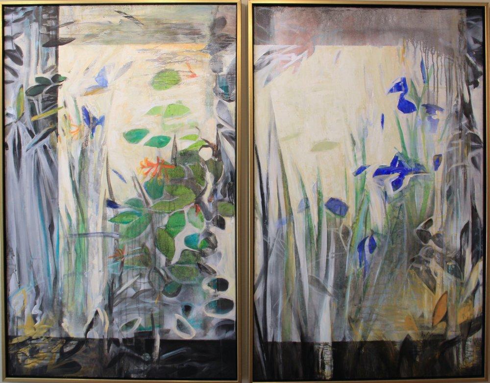 Bright Pond diptych, 60 x 48 (Sold)