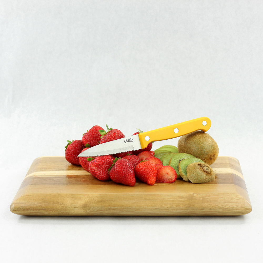 Essential Series Yellow Paring Knife with Fruit