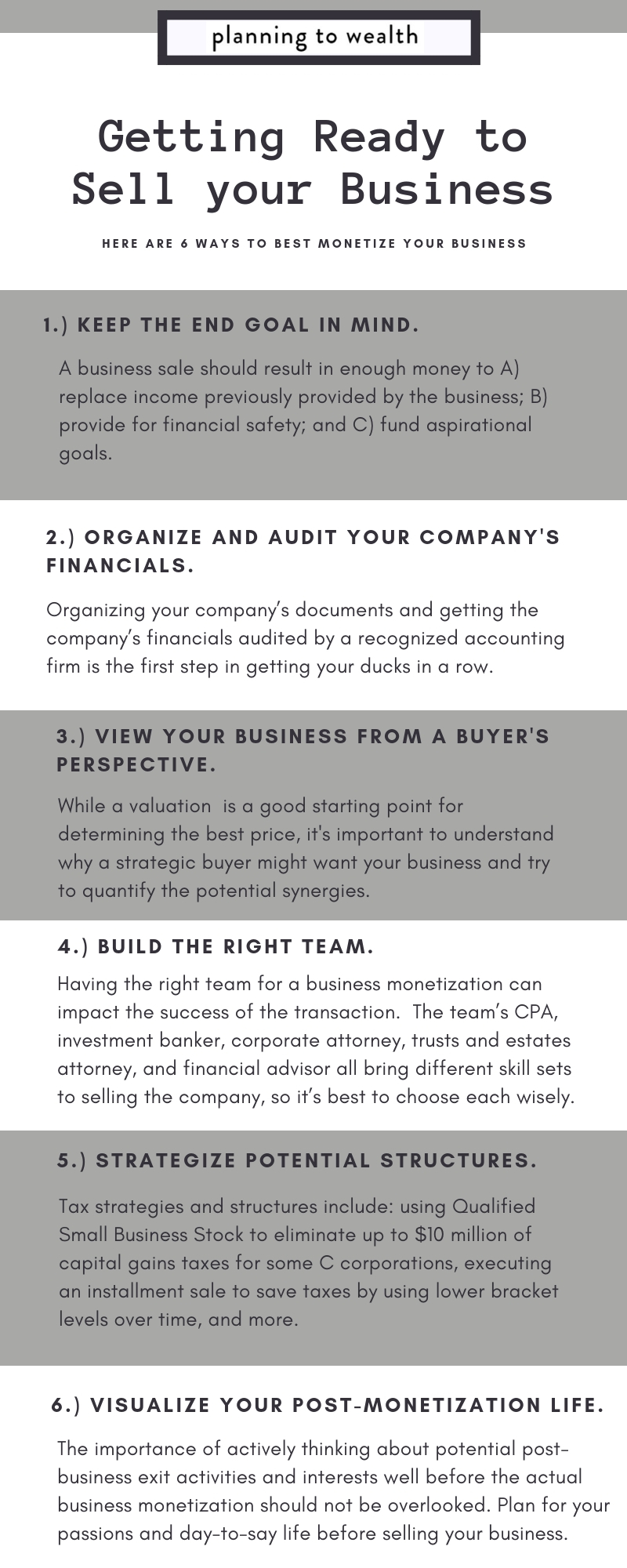 Sell a Business Wealth Management Tips