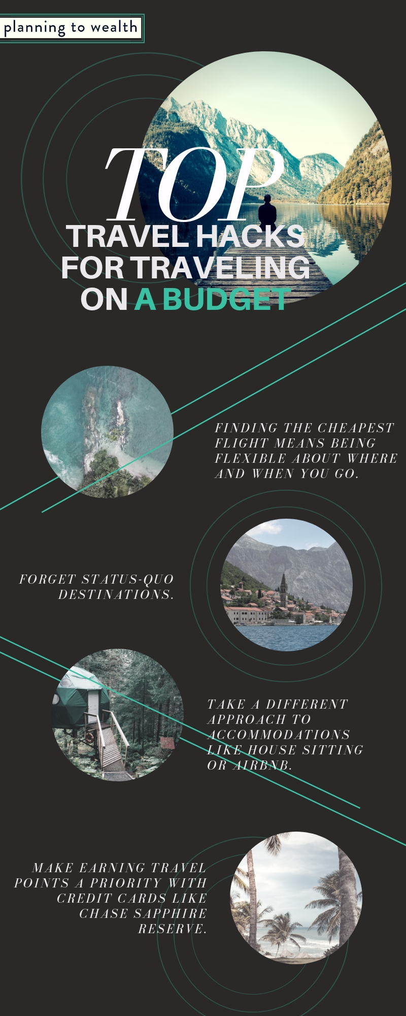Travel hacks and strategies on a budget