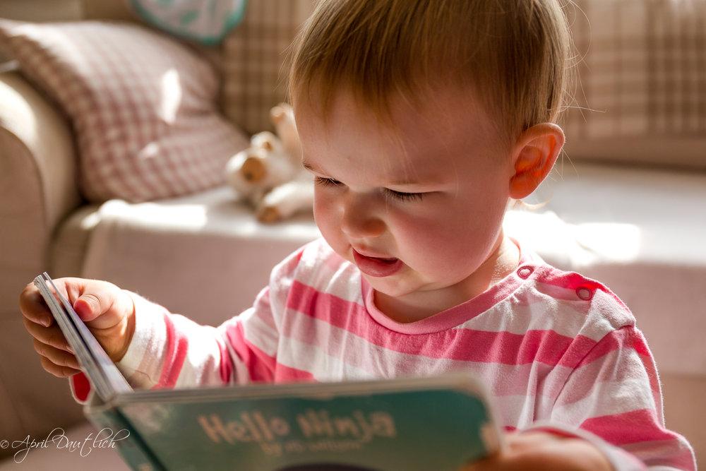 Hazel reading book