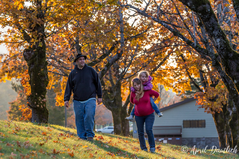 The end of the family session walking through the autumnal canopy.