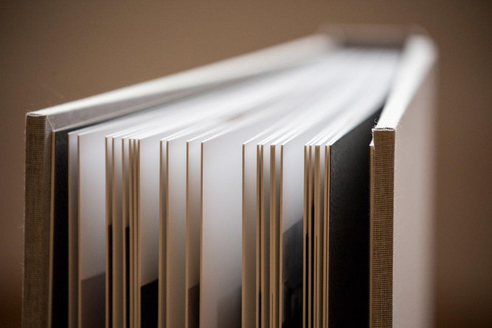 Folio album page thickness
