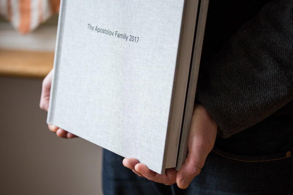 Folio Album being held