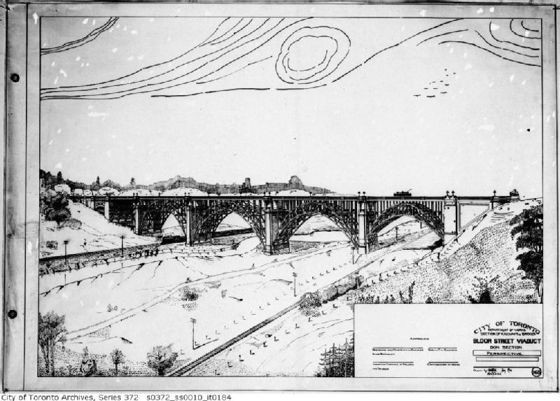 Schematic of the Prince Edward (Bloor St) Viaduct