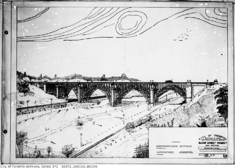 Schéma du viaduc Prince Edward (rue Bloor)