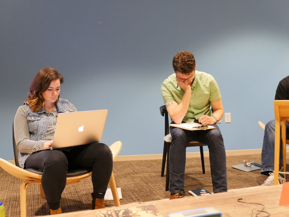 Energy BBDO students completing a class writing assigment.JPG