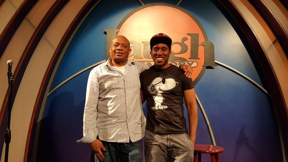 Michael and comedian Chris Redd.jpg