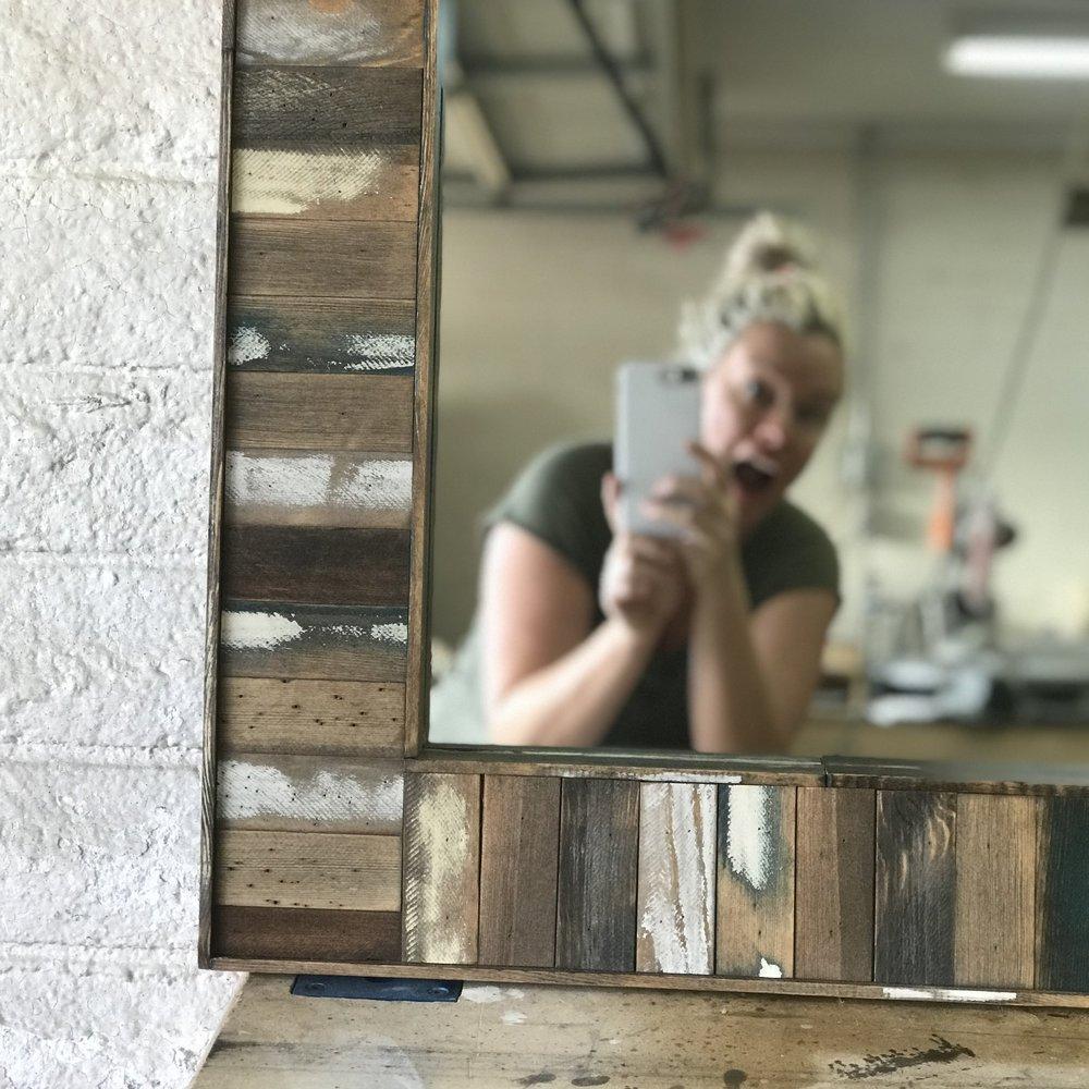 Stir Stick Mirror Frame