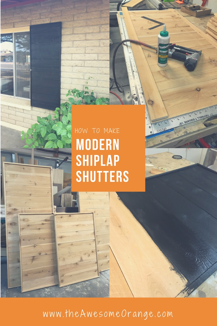 How to Make Modern Shiplap Shutters the Awesome Orange