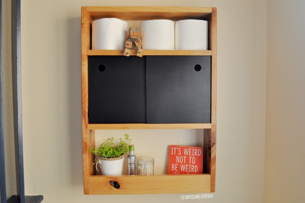 DIY Over-The-Toilet Shelf — the Awesome Orange