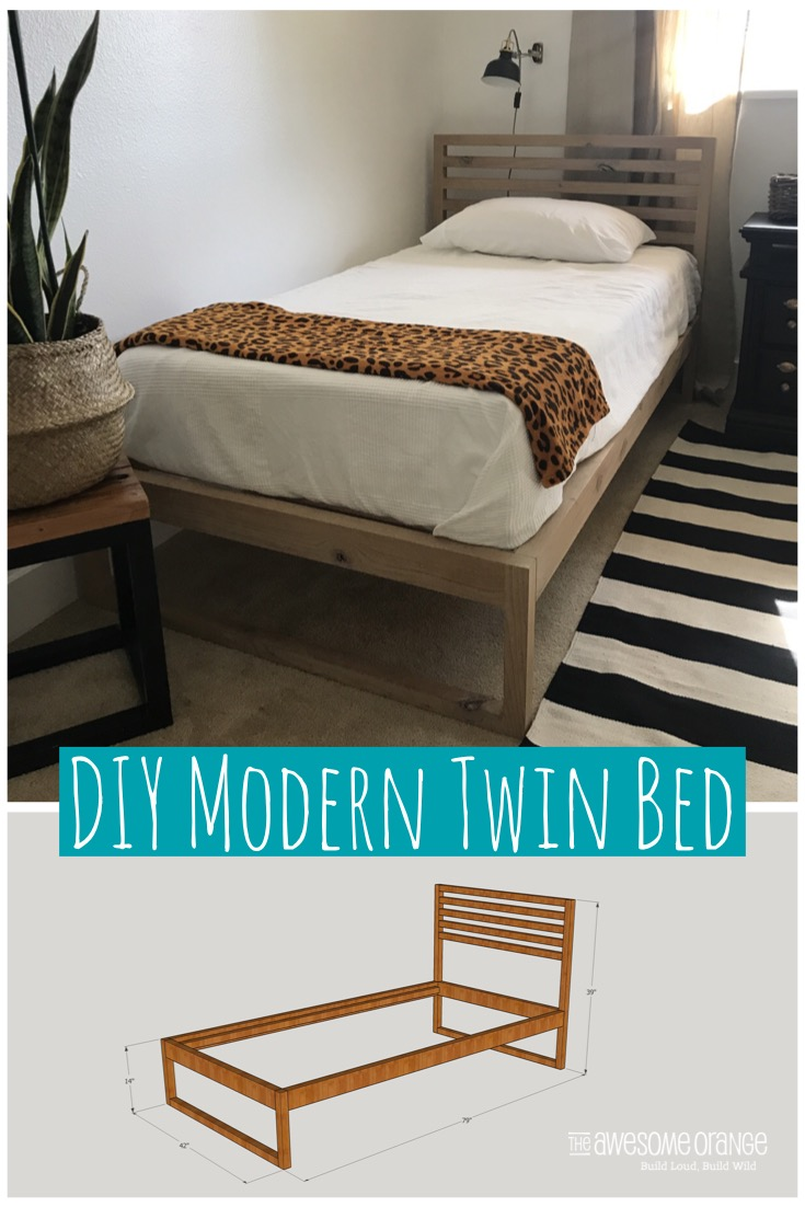 Diy Modern Twin Bed The Awesome Orange