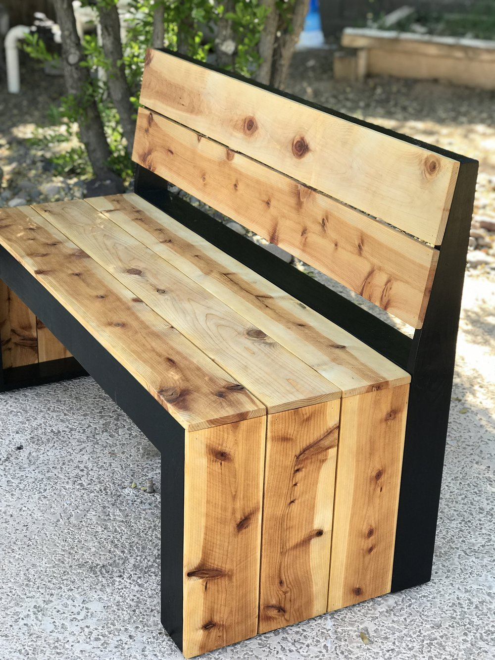 Super Diy Modern Bench With Back The Awesome Orange Gmtry Best Dining Table And Chair Ideas Images Gmtryco