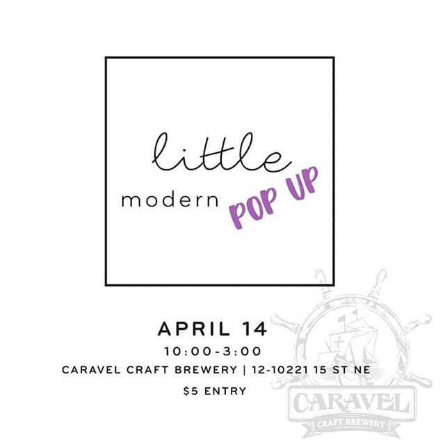 April 14th we will be at the @littlemodernmarket popup at @caravelcraftbrewery maybe sure you come down for some shopping and beer!! 🍻