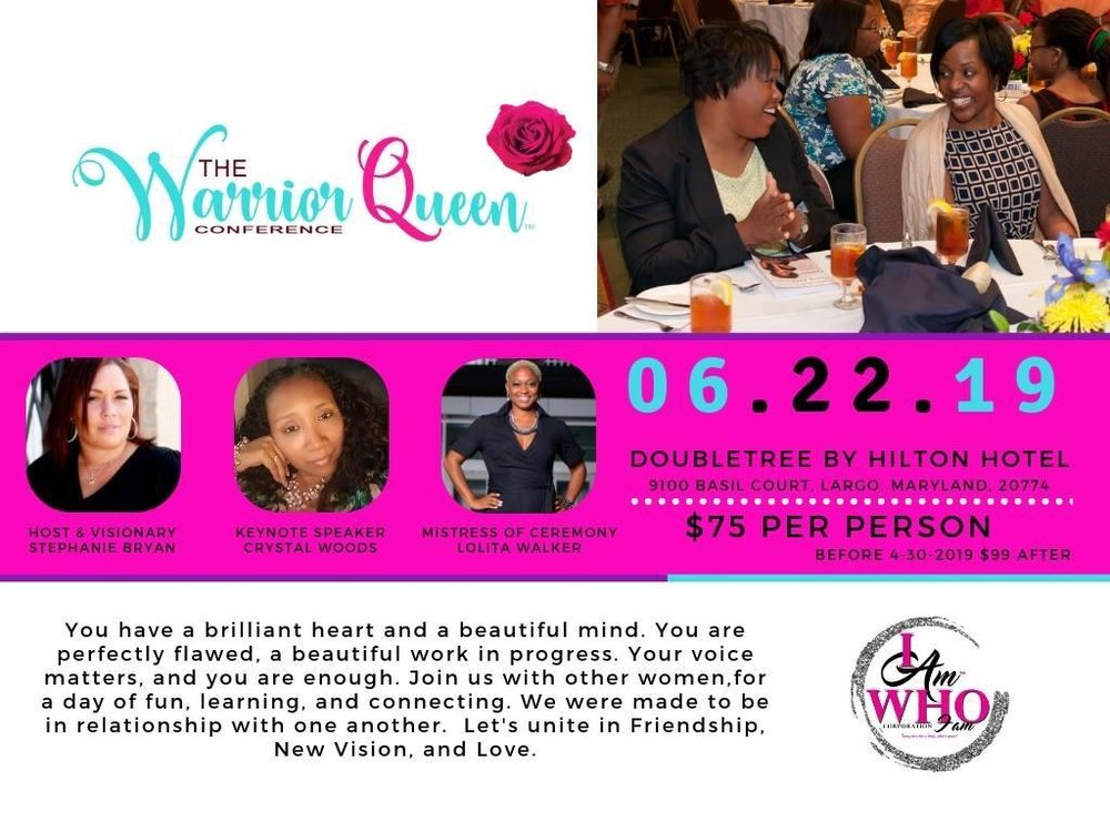 I am Who I am Conference Flyer - Lolita E. Walker Emcee.
