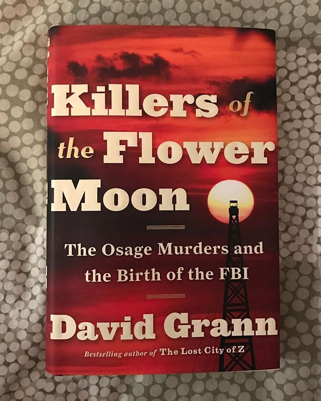 First book finished in 2018! I started this book on New Year's Eve and tore through it in a day. David Grann is a gifted storyteller, but the work he does in this book is important in a different way. Killers of the Flower Moon chronicles the astonishing murders of dozens of Osage Indians, along with their friends and families, during a period in the 1920s when the tribe's headrights (shared dividends of the Osage Mineral Estate, at the time a huge quantity of oil on tribal land) were booming. Wealthy Osage were murdered so white settlers could inherit their land and money, and the local, state, and federal governments turned a blind eye for years. In Killers of the Flower Moon, Grann exposes some of the horrors of settler colonialism - horrors that resonate in the modern age. Worth a read, especially if you don't know much about the history of Indigenous people in the United States.  #killersoftheflowemoon #davidgrann #osage #osagemurders #mollieburkhart #decolonize #thisisindianland #firstreadoftheyear