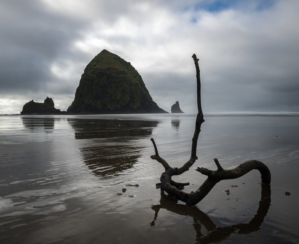 Haystack Rock on Cannon Beach.