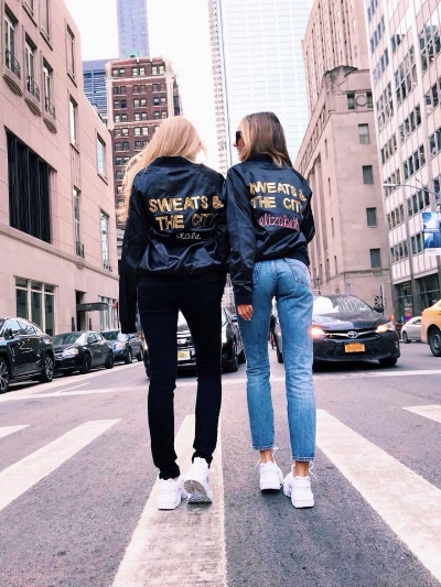 Elizabeth and Dale from Sweats & the City in NYC.