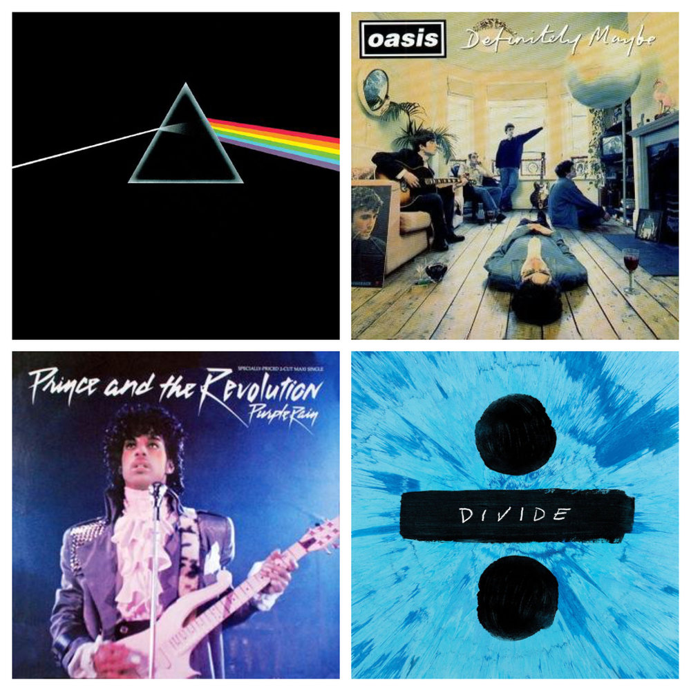 Home-Audio-Systems-Vinyl-Album-Covers-Pink-Floyd-Prince-Oasis-Ed-Sheeran
