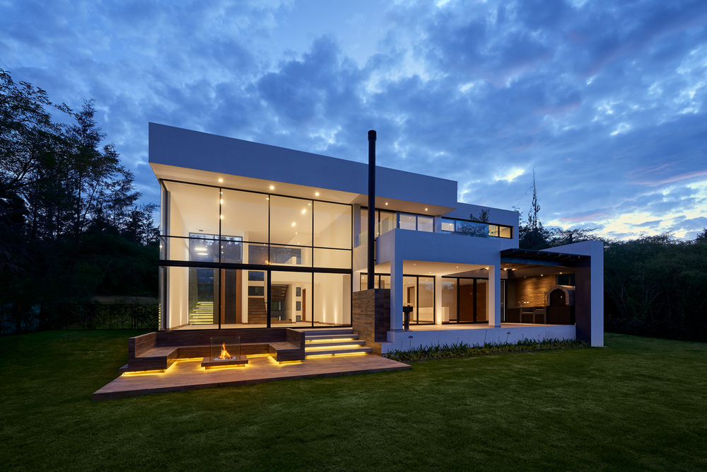 Smart_Home_At _Dusk_Modern Architecture_Ascot_Home_Automation_Systems