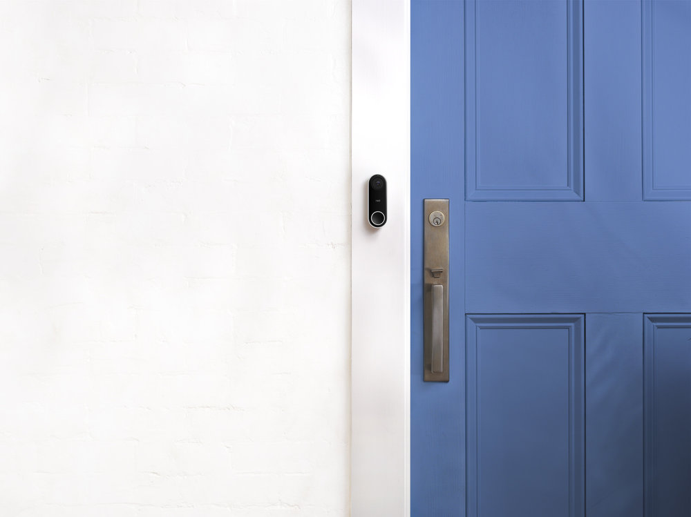 Video_Door_Bell_Nest_Blue_Door_White_Wall
