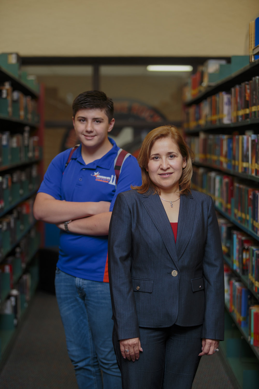 Oralia De Los Reyes, Ph.D.- STISD Partner | Raul Marquez- 8th-grader at RSA