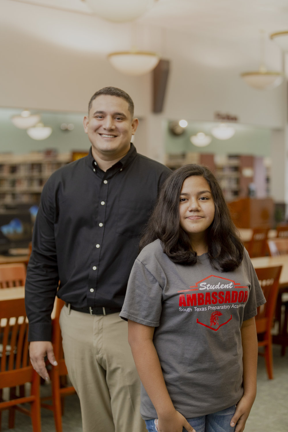 Christopher Morales- Science Teacher at South Texas Preparatory Academy (STPA) | Salome Gonzalez- 8th-grader at STPA