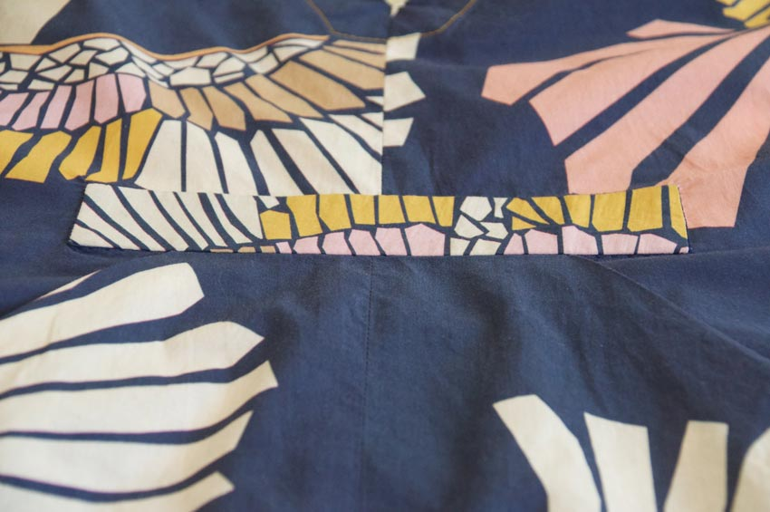 Utilising smaller areas of the pattern for bodice detail