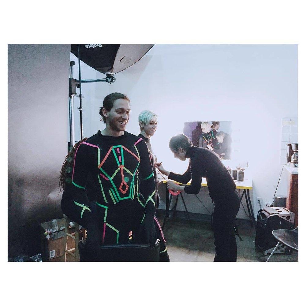 Make-up and wardrobe magic for our shoot. Wait for details coming soon @aloud @motherwest @tatofeliz #thefutureisnow #virtualreality #mywork #film #video #instavideo #instabest #insta #aloud #motherwest (at Vulcan Room)