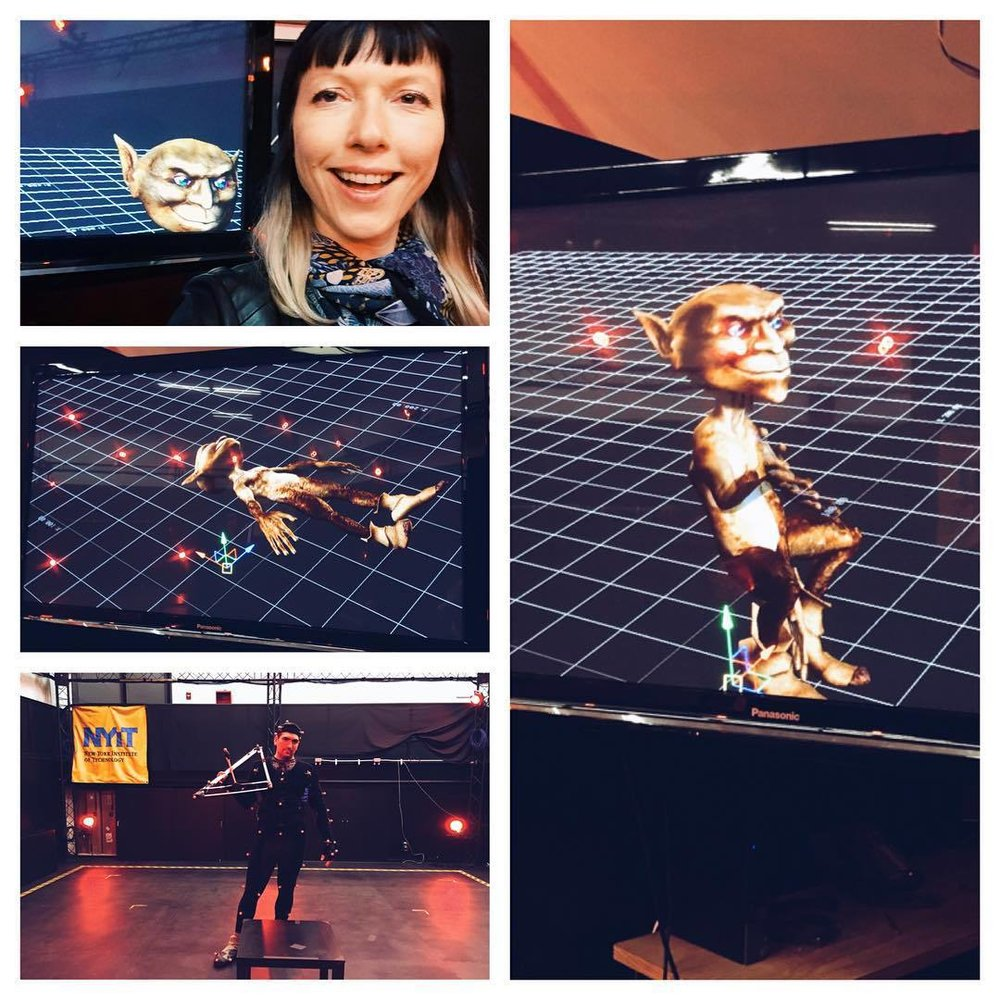 Fun little fellow I got to play around with at the NYIT campus in Long Island for the VR project I am directing for @aloud and we are collaborating with the school on. Very excited about what is to come. #vr #thefutureisnow #virtualreality #mywork #film #video #instavideo #instabest #insta #gremlin  (at NYIT)