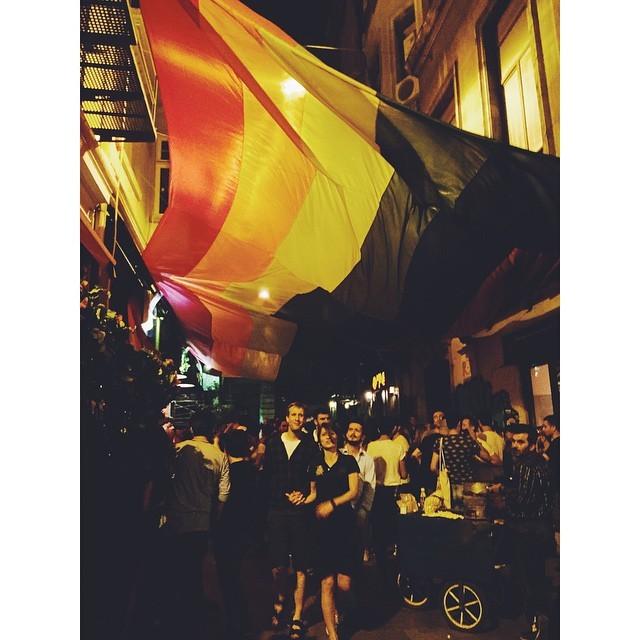 Turkey is celebrating with the rest of the world #freelove#equalrightsforeveryone  #gayrights #rainbowflag #change #thefuture #abettertomorrow #istanbul #turkey #neveraboringmoment #passionpassport #travelbug #travel #jogging #exploringbyrunning #instaistanbul #instatravel #insta #instabest #instagood #vsco #vscocam #vscobest #vscotravel #vscoistanbul #mytinyatlas #TellOn #nikeplus (at Istanbul -Turkey)