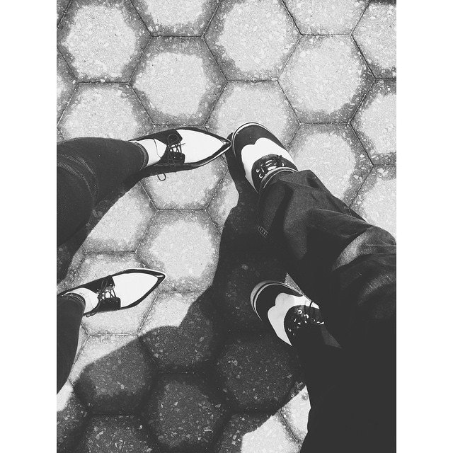 You know you have fabulous shoes when you want to take pictures like this #shoesshoesshoes #elbanditosdewilliamsburg #fabulous #style #shoes #vscocam #vsco #vscobest #instabest #instagood #instawilliamsburg #moderntogether #cb2 #best #blackandwhite #bw  (at Williamsburg, Brooklyn)