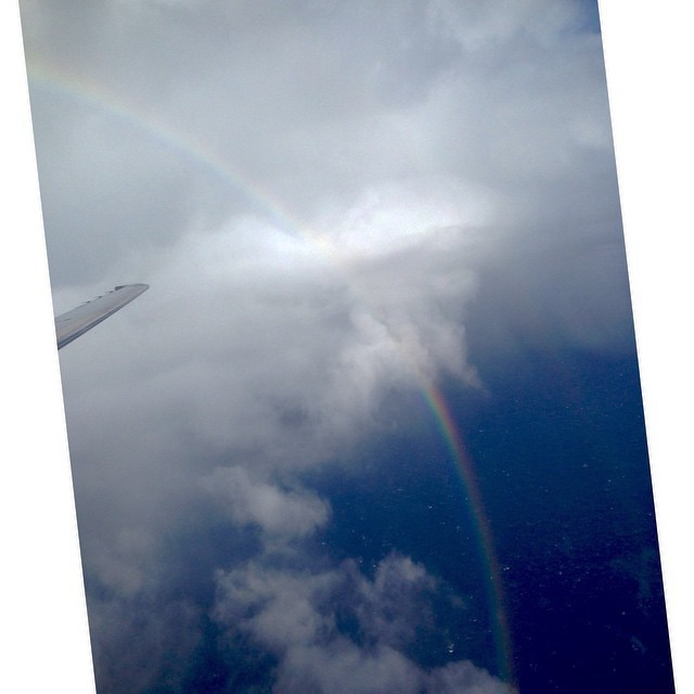 Over the rainbow so high #rainbows #flying