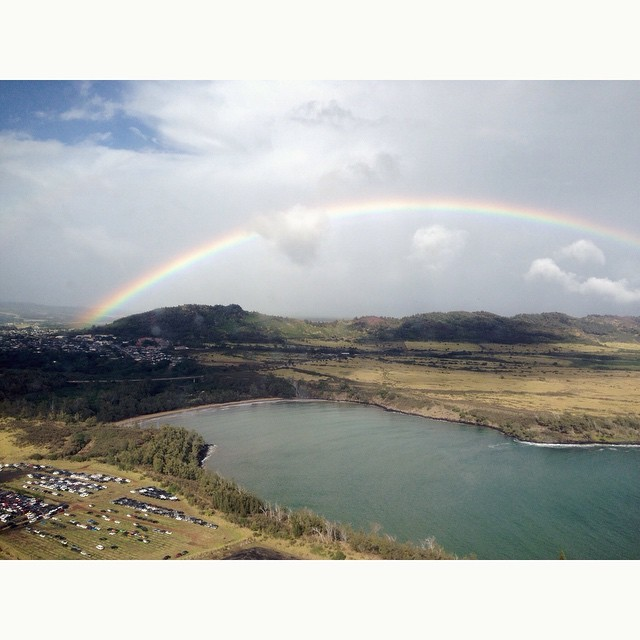 Rainbows as I leave this paradise. Can't wait to come back #neverenoughrainbows #i<3kauai #kauai  (at Lihu'e International Airport-Kauai)