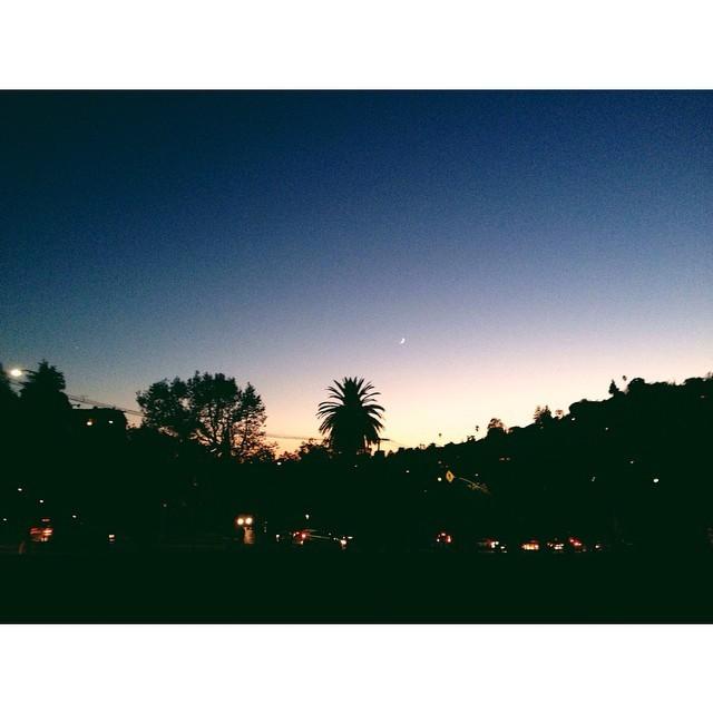 Pretty moon over silverlake #moon #silverlake #losangeles #sunsets