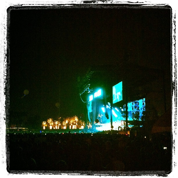 And now Radiohead…I'm in musical heaven (Taken with  instagram )