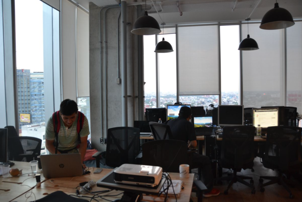 The scene at Hola Code in Mexico City, Mexico. (Photo by Oscar Lopez)