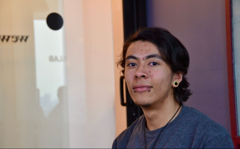 Jorge Cervantes, a 20-year-old student at Hola Code. (Photo by Oscar Lopez)