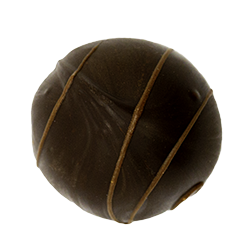 Rum - Rich dark chocolate truffle accented with rum—a real favorite!